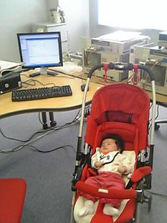 赤ちゃんと事務所