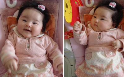 笑顔がまん丸の赤ちゃん