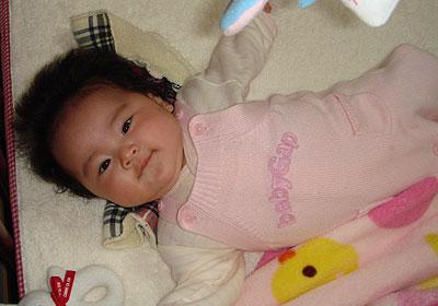 カメラの前の赤ちゃん