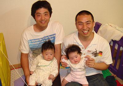 パパと留守番の赤ちゃん