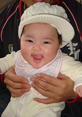 楽しそうな赤ちゃん