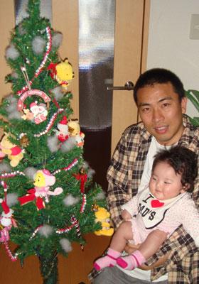 クリスマスツリーとパパと七夕ちゃん