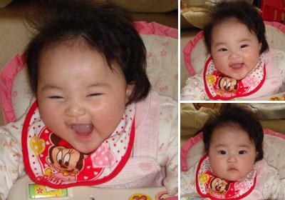 癒される赤ちゃんの笑顔