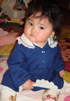 紺色のお洋服