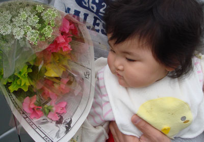 野菜と花の市場