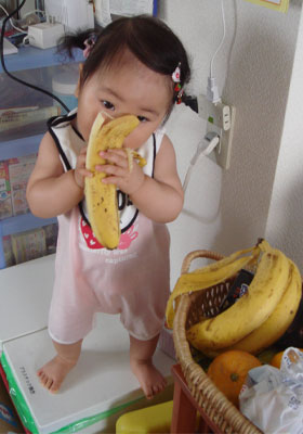 バナナ泥棒がいました